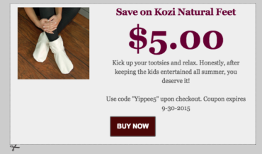 Last Day to Save $$ on Kozi Natural Feet